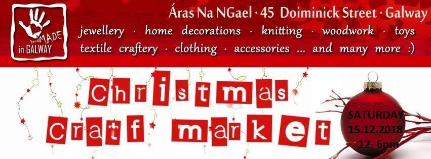 Christmas Craft Market, Handmade in Galway 15/12