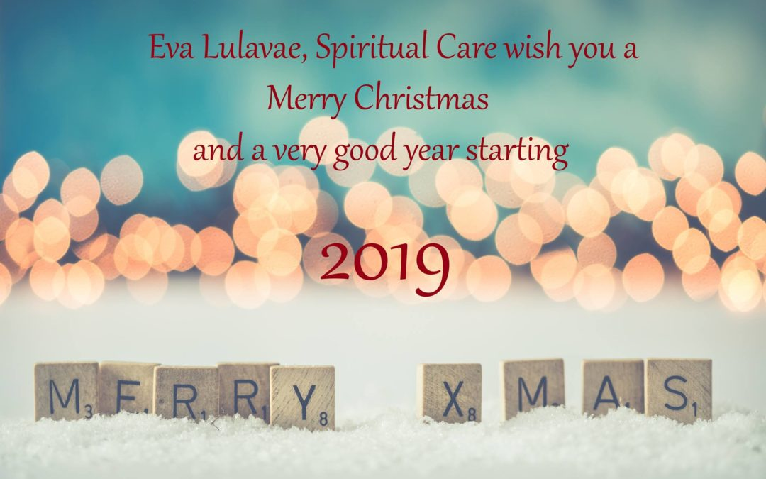 I wish you a Merry Christmas and a Happy 2019