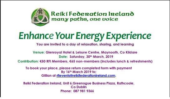 Enhance your Energy day 30/03